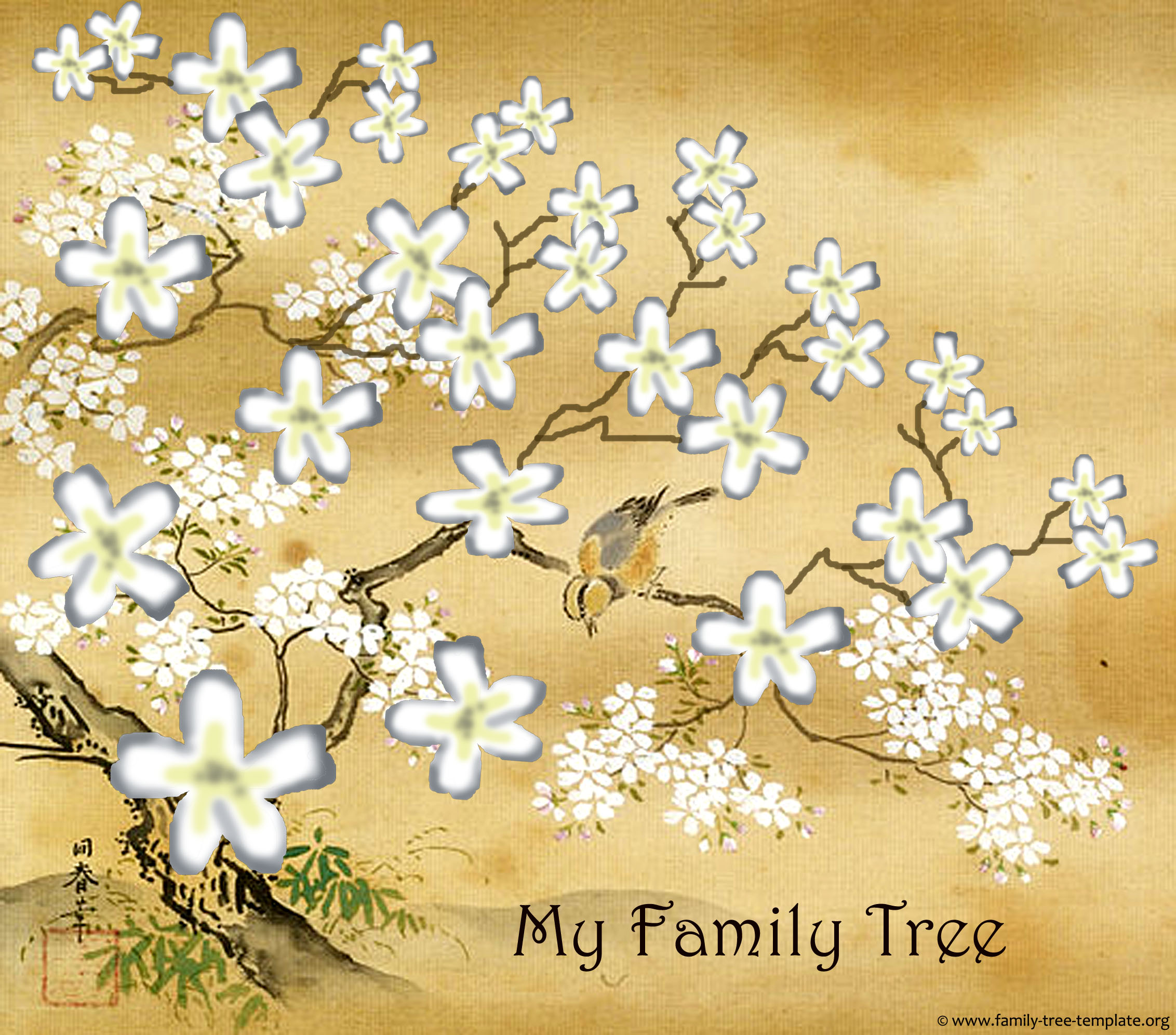 Family tree templates genealogy clipart for your ancestry map another printable 5 generations family tree chart japanese style toneelgroepblik Images