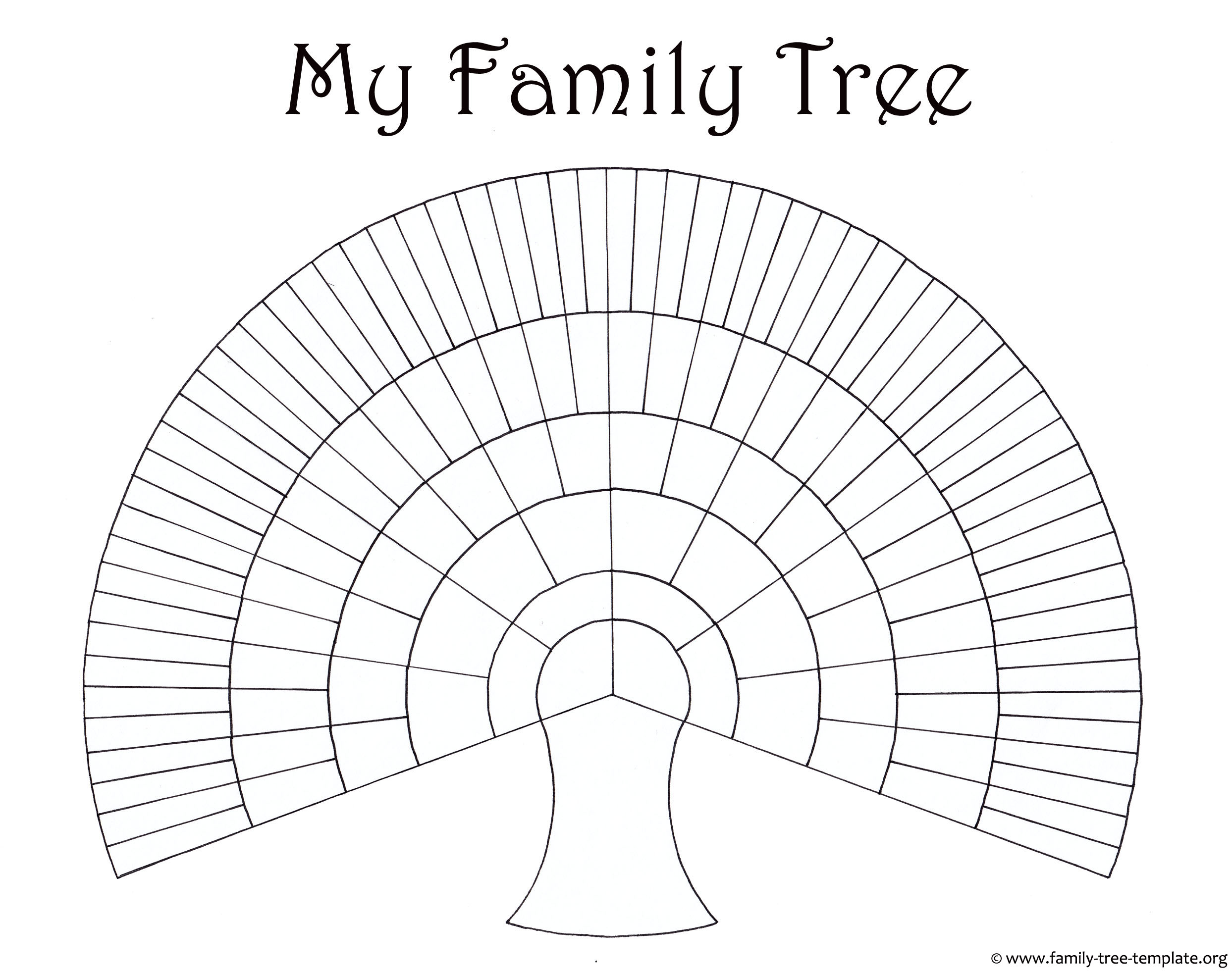 Blank Family Trees Templates and Free Genealogy Graphics – Blank Family Tree Template