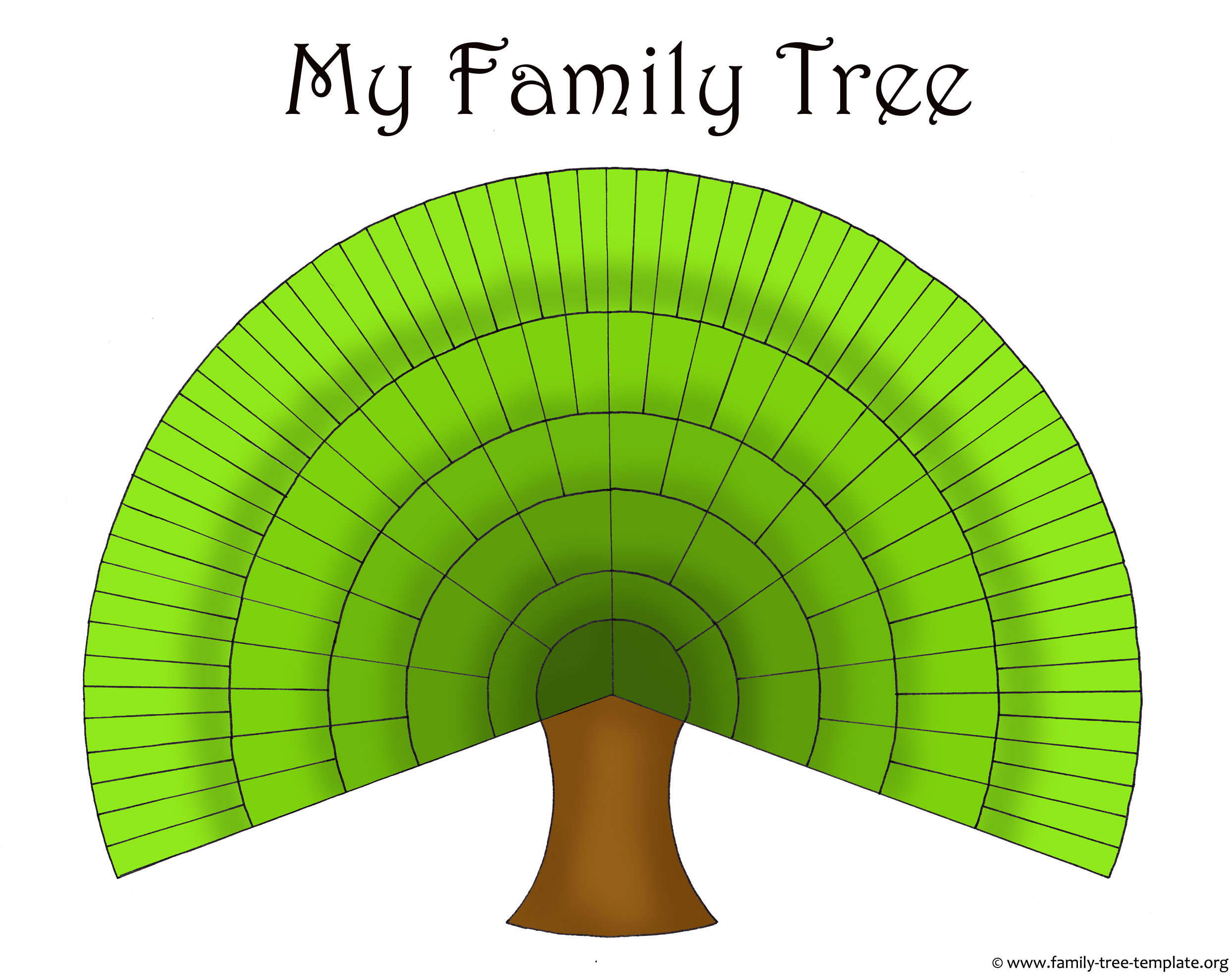 Family Tree Template: Large Family Tree Template Charts