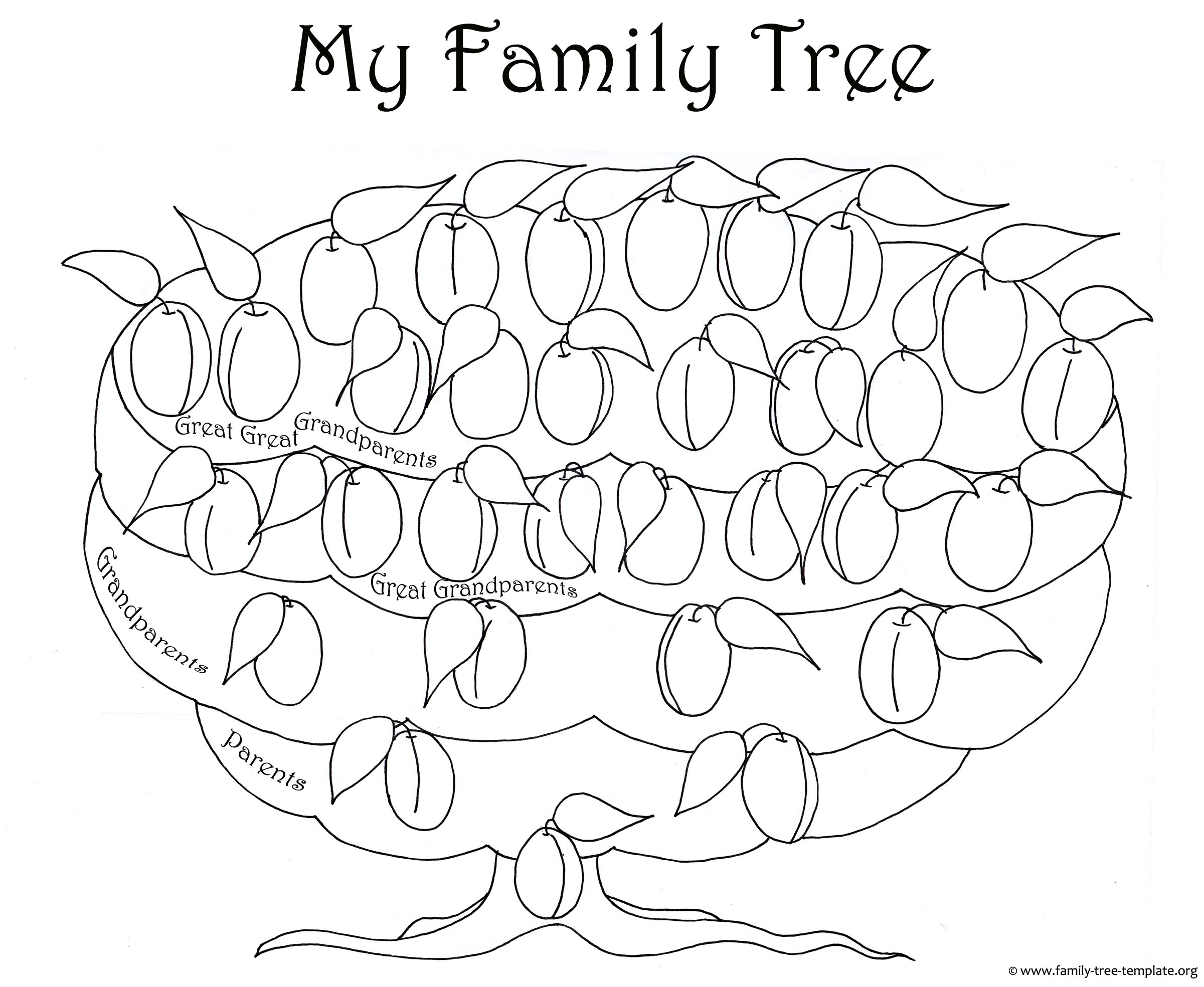 The Plum Tree Chart As A Coloring Page For Kids