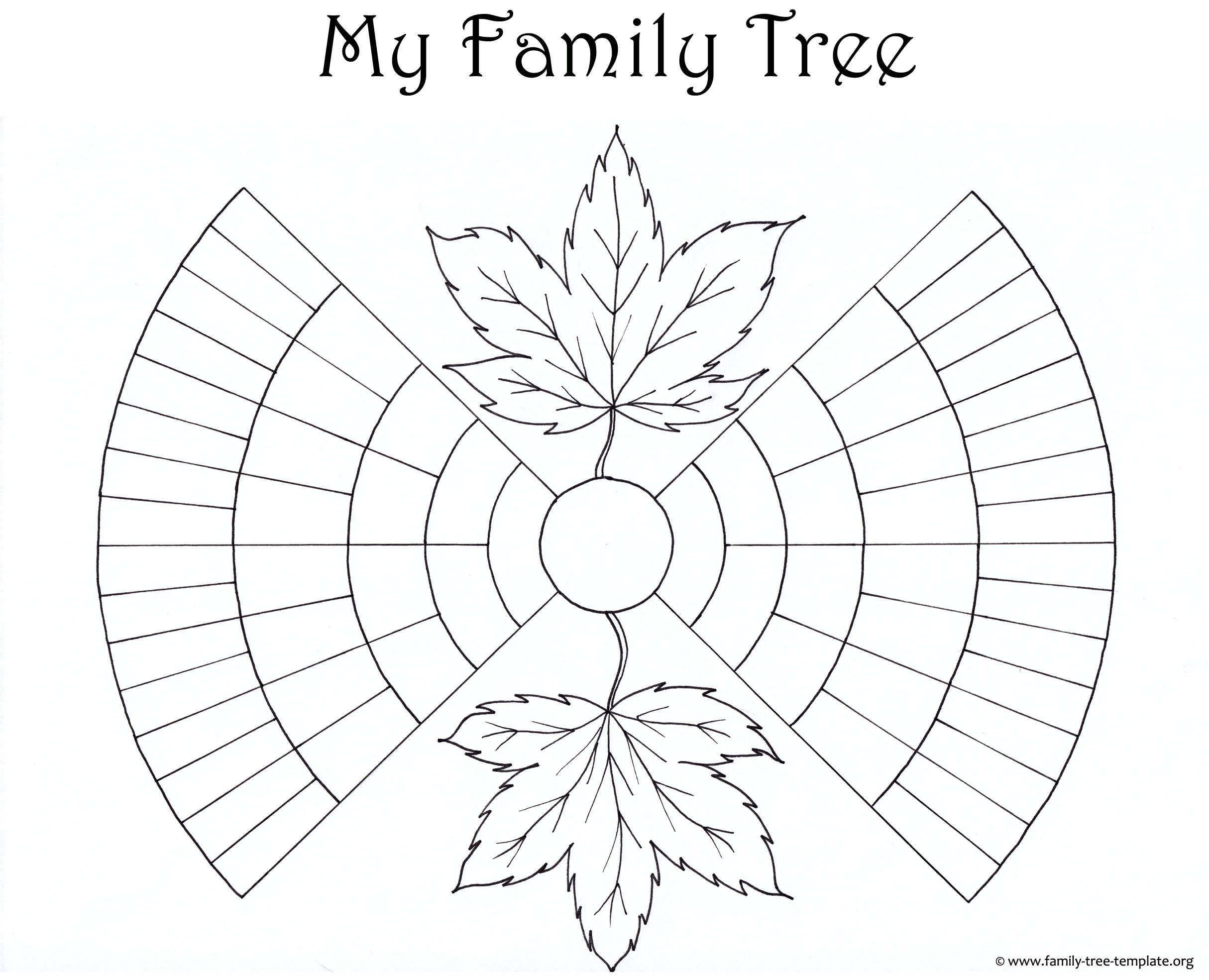 Printable ancestor chart for kids to color.