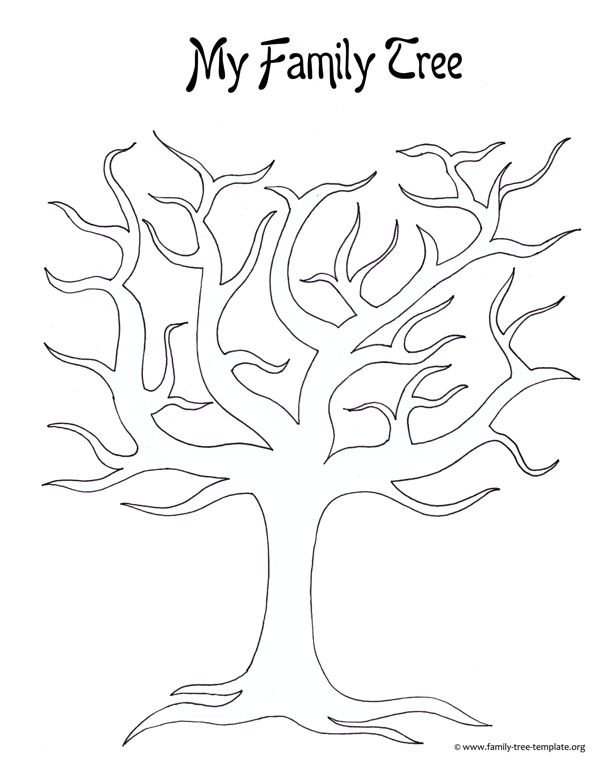 Slobbery image for tree outline printable