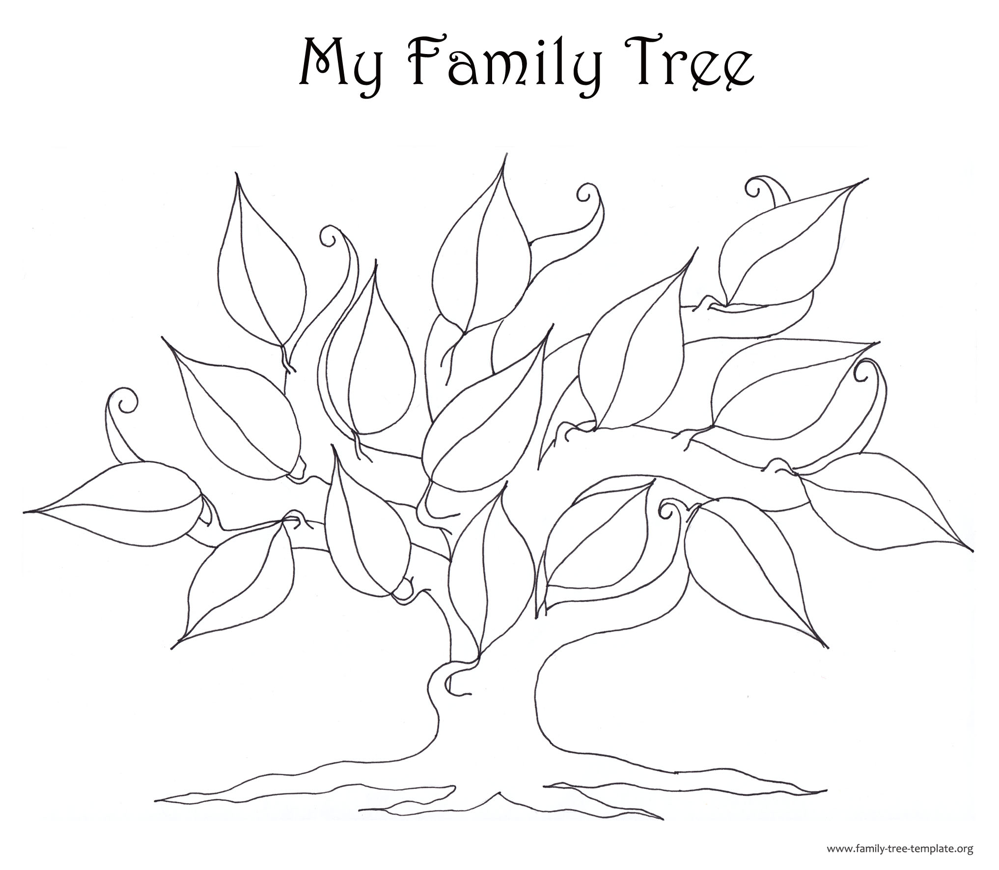 The Non-Structured Family Tree as a Coloring Page for Kids