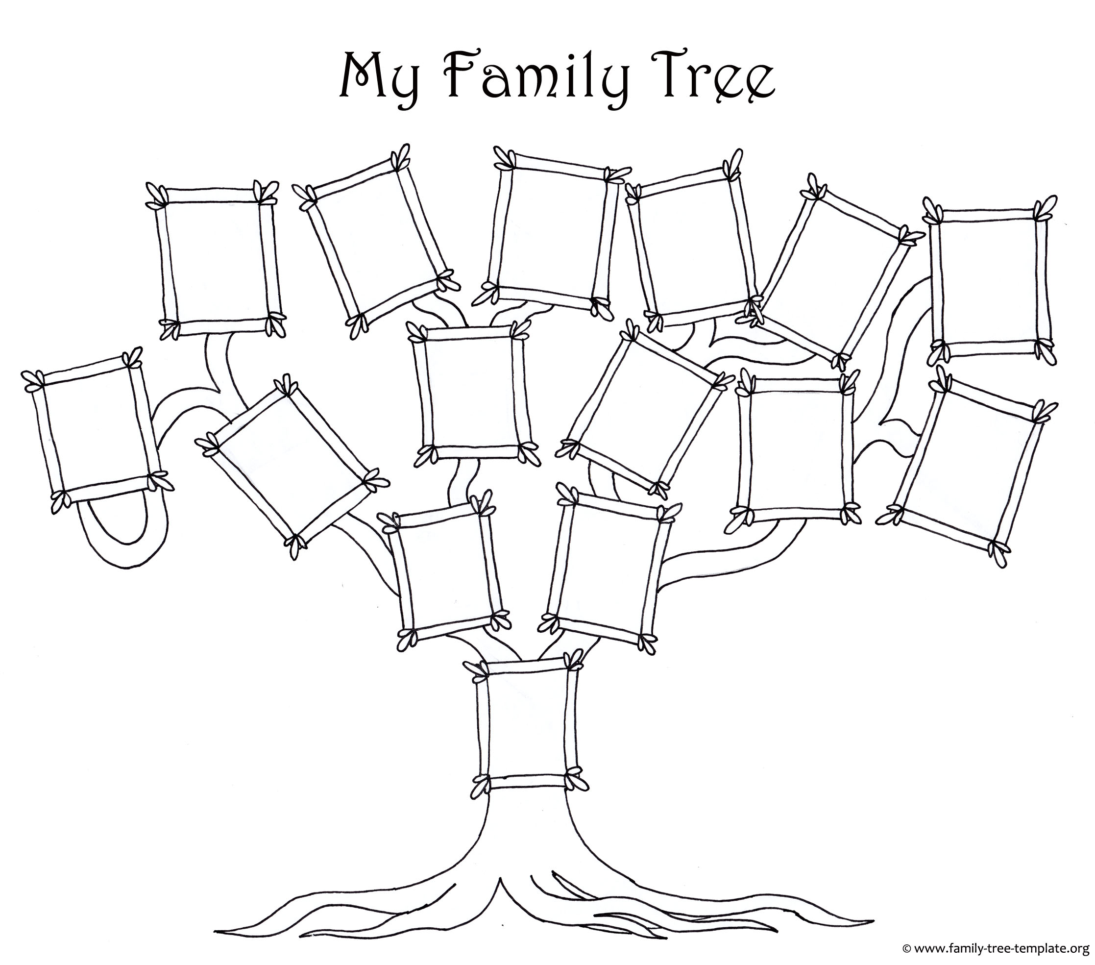 Free family tree template designs for making ancestry charts for Preschool family tree template