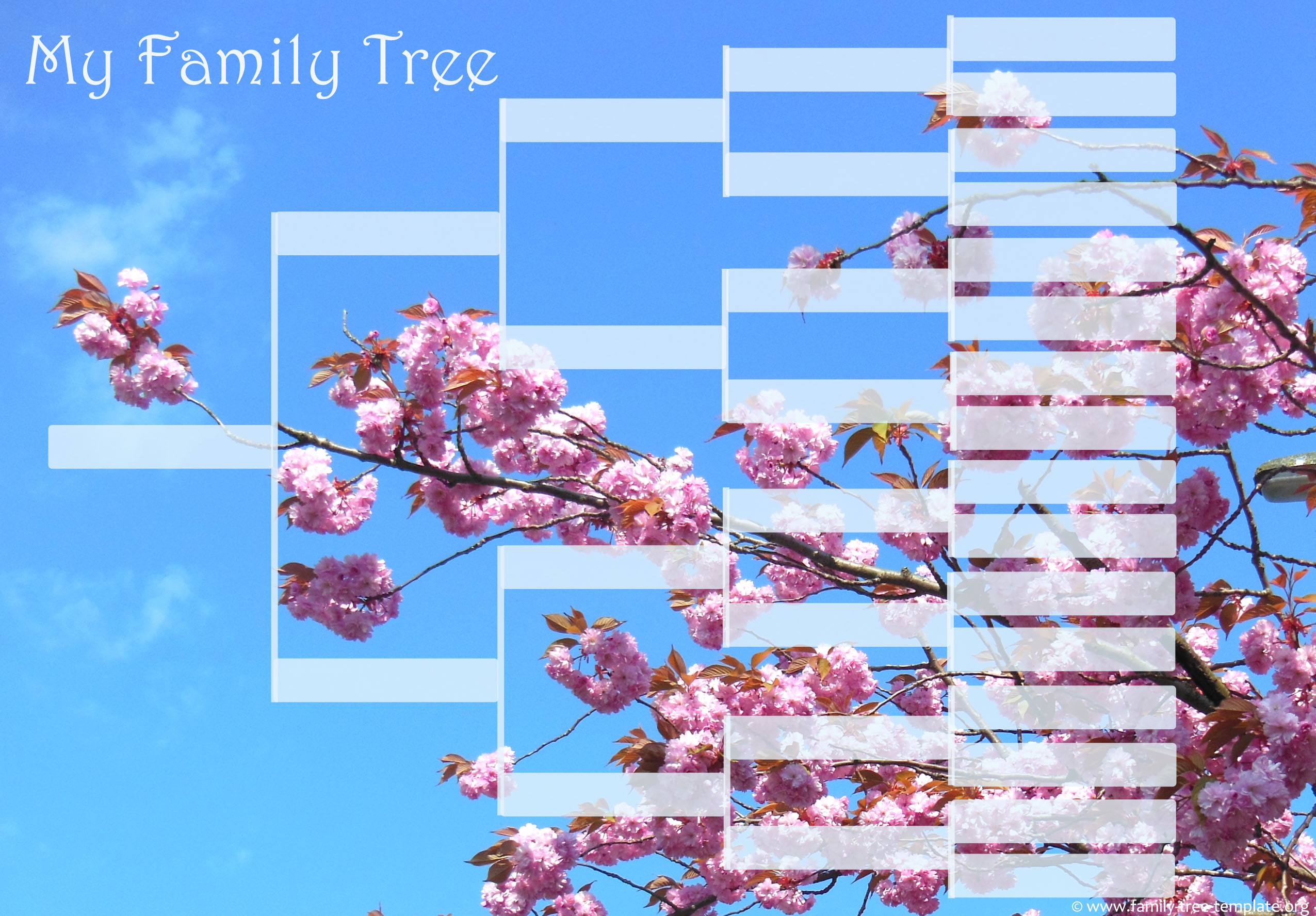 Free genealogy chart for young school children: 5 generations tree template.