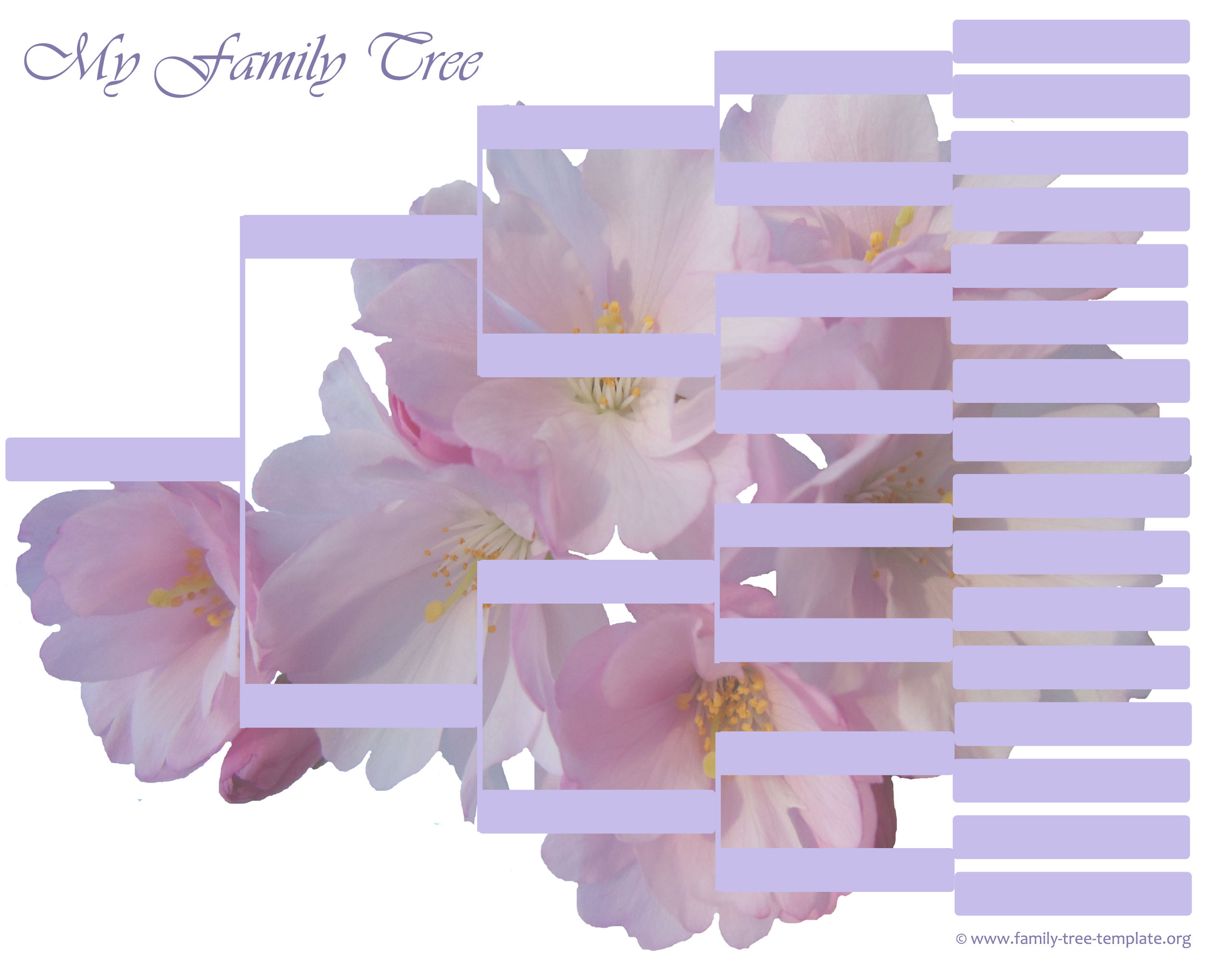 High resolution family tree to print - 5 generations.