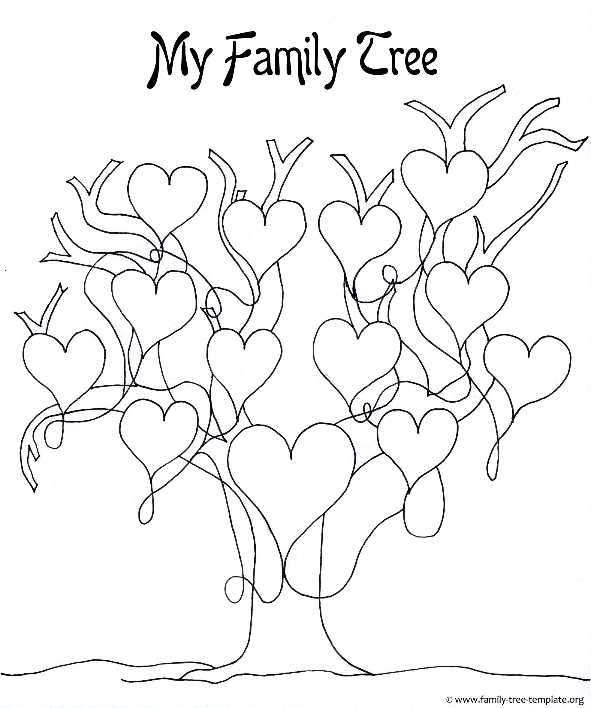Printable family tree for girls to color and have fun with.