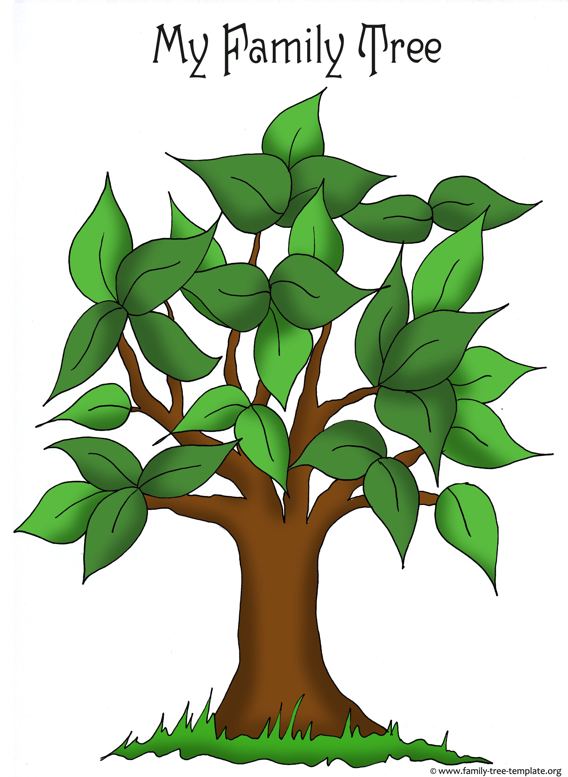 Family tree templates genealogy clipart for your for Picture of a family tree template