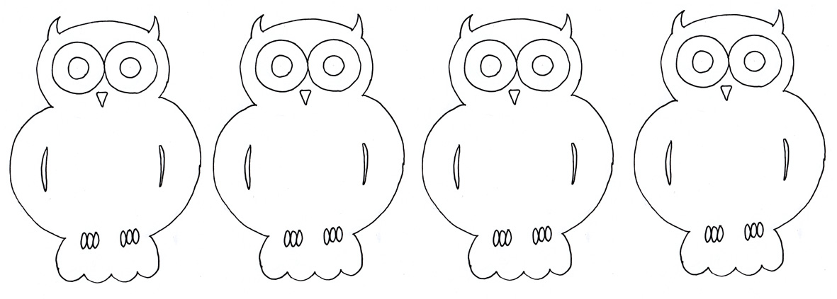 Owls to print out, cut out, color and glue on to family tree.