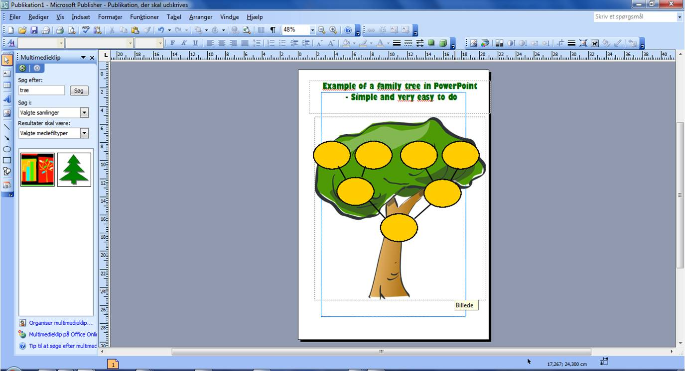A simple example of a tree chart in PowerPoint. Takes max 10 minutes.