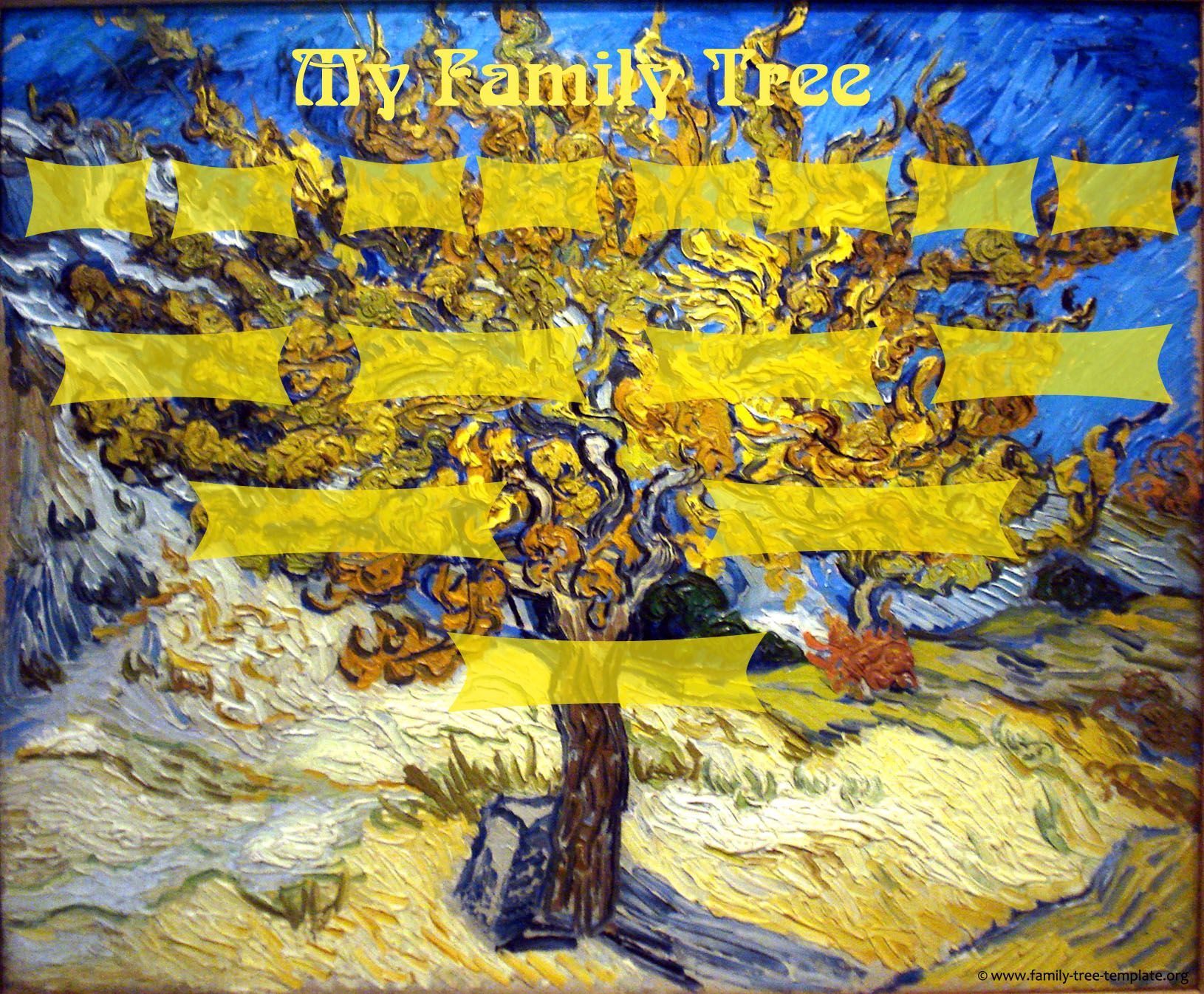 Van Gogh Mulberry tree as a family tree.