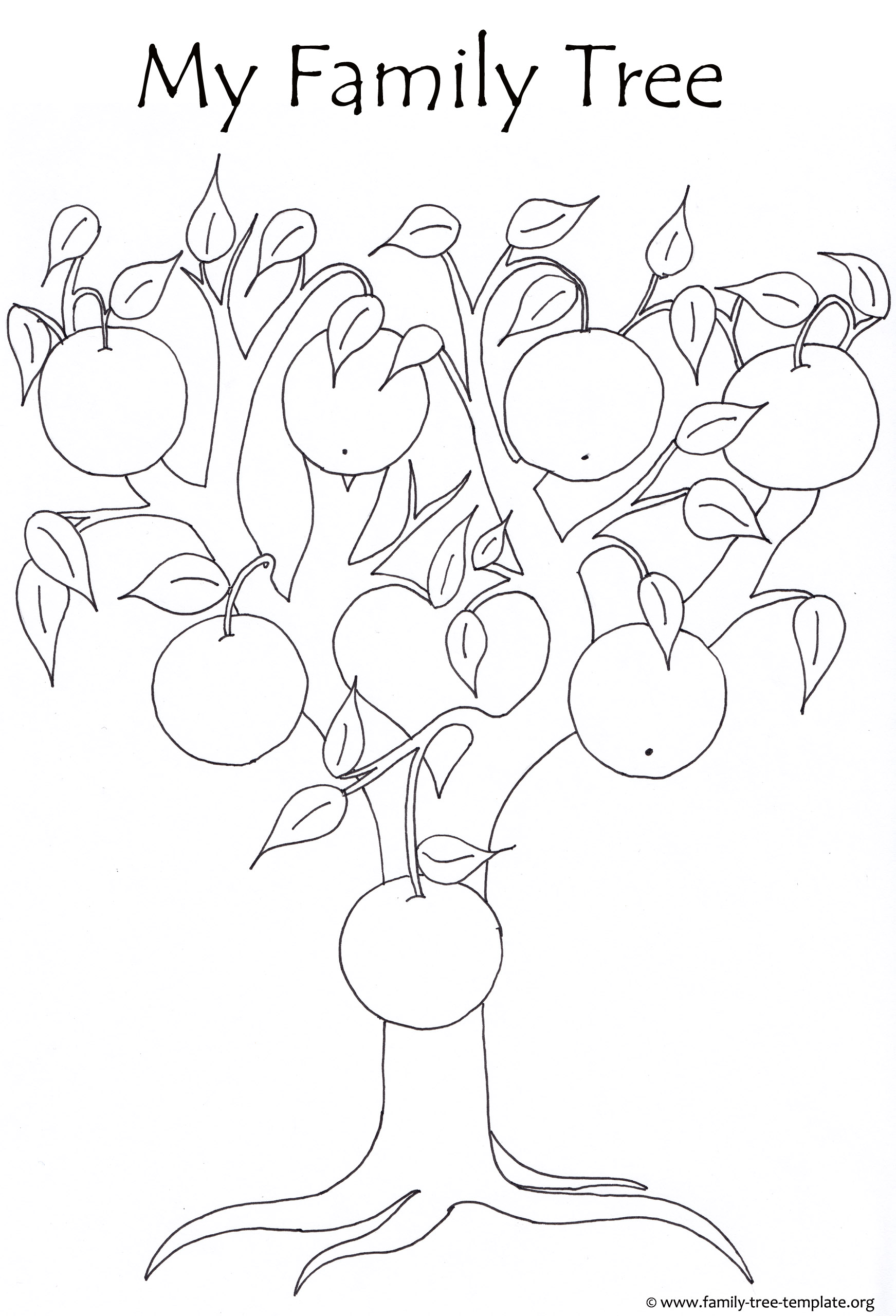 Orange Tree for Kids to Color.
