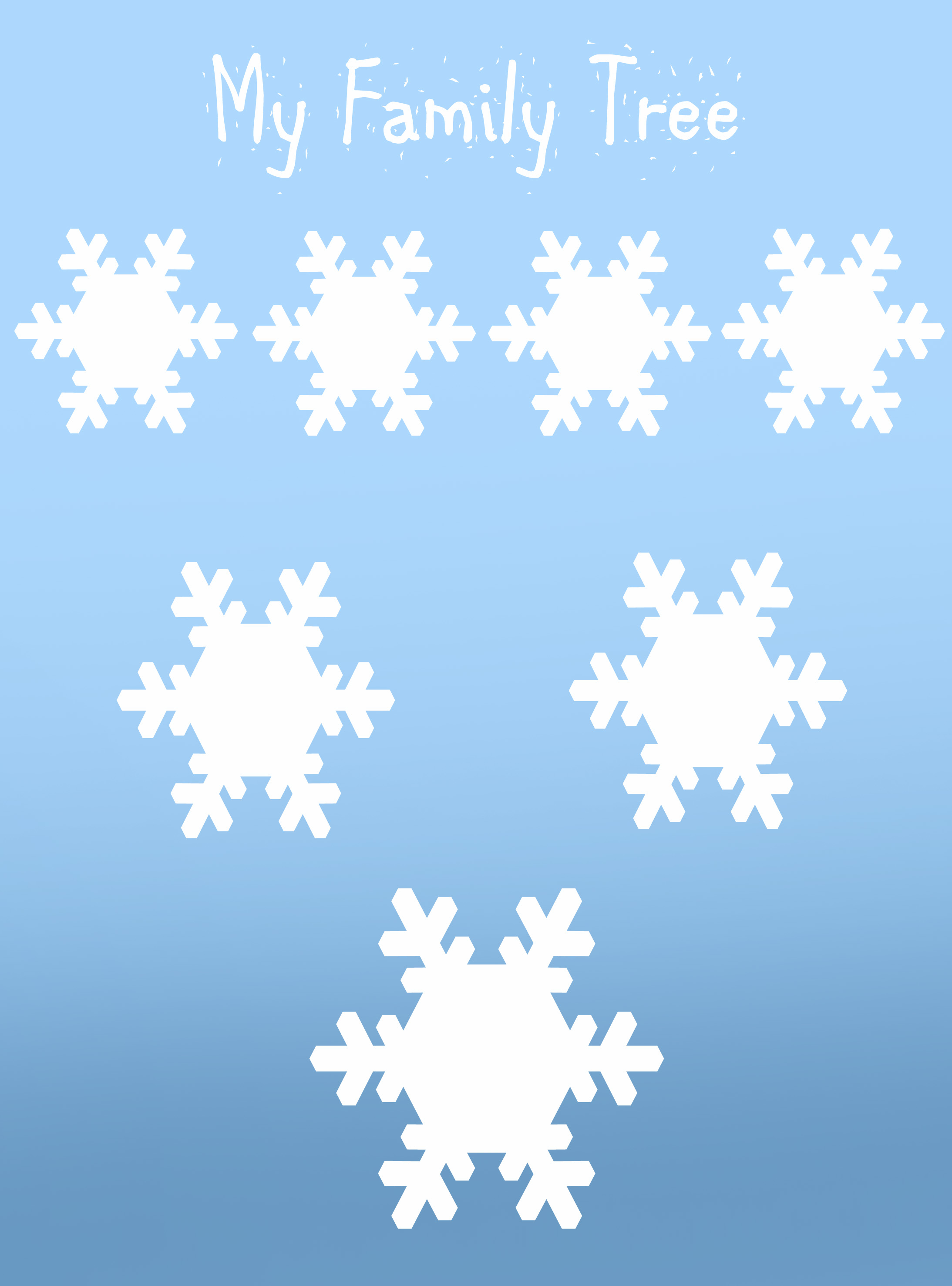 Snowflake ancestry chart for young kids.