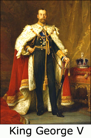 Painting of King George V